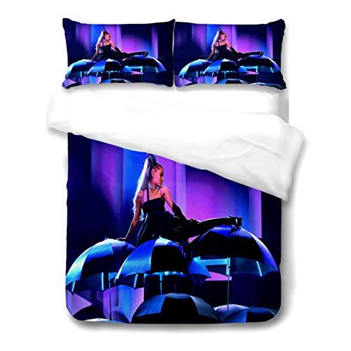 ADosdnn Ariana Grande - Juego de cama con funda de almohada, 100% microfibra, gruesa y suave, impresión digital 3D, funda nórdica general para niños y adultos (200 x 200,11)