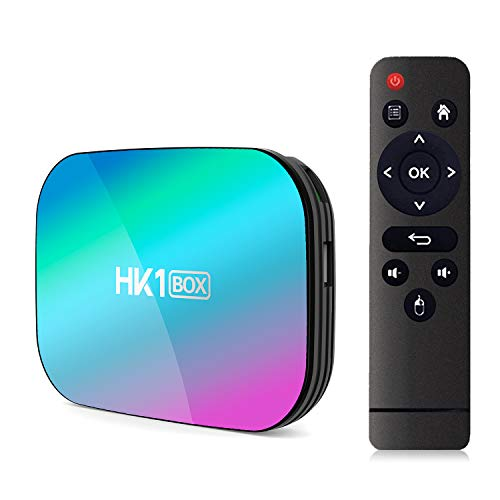 Xilibod Android 9.0 TV Box 4GB RAM/32GB ROM Amlogic S905X3 Quad Core 64bit Cortex-A55, GPU G31™ MP2,H.265 Decoding 2.4G/5G Dual-Band WiFi LAN 1000 RJ-45 Smart TV Box - Model No.: HK1 Box 4GB 32GB
