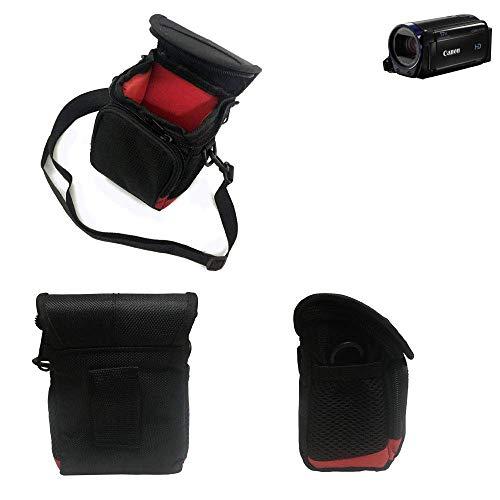 K-S-Trade® Kameratasche Fototasche Umhängetasche Schultertasche Zubehör Tasche Schutz Hülle Für Canon Legria HF R68 Mit Zusatzfach Und Teilbaren Innenraum Mit Trennwand