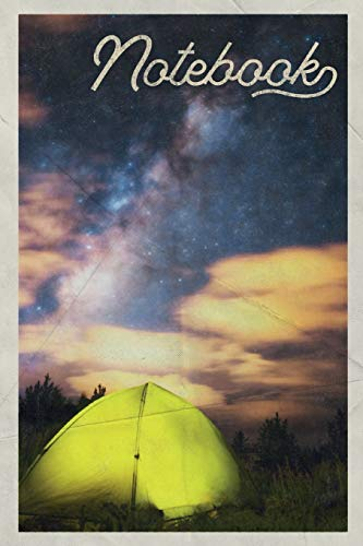 Notebook: Dome Tent Cool Composition Book Journal Diary for Men, Women, Teen & Kids Vintage Retro Design for Backpacking Checklist Notes
