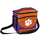 Logo Brands NCAA Clemson Tigers Unisex Adult 24-Can Cooler with Bottle Opener and Front Dry Storage Pocket, One Size, Multicolor