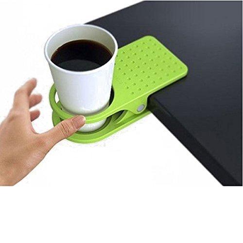 Yeah67886 Creative Home Office Tasse Pince Keeper Accessoires Plastique détachable Table Clip Tasse Holder-random Couleur