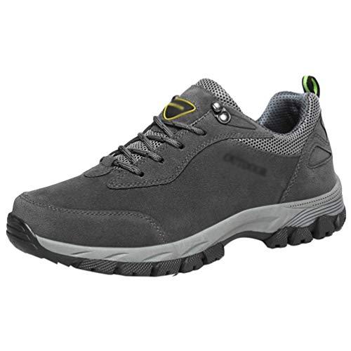 Yuanu Herren Sport Laufschuhe Wandern Schuhe Casual Mode Sportschuhe Leichte Atmungsaktive Sportschuhe Grau 42