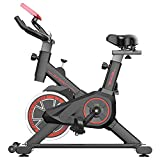 Bicicleta Estática| Bicicleta de Interior ,6 Ajustes de Altura de Reposabrazos y Cojines,Magnetorresistencia ilimitada,Monitor LCD de Frecuencia Cardíaca,Bicicleta estática para mujer