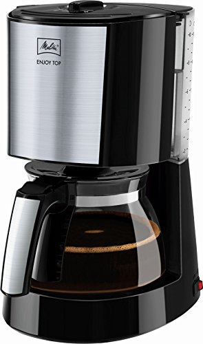 Melitta Glaskanne, AromaSelector, Schwarz Enjoy Top Filterkaffeemaschine 1017-04, Edelstahl, 1.2 liters