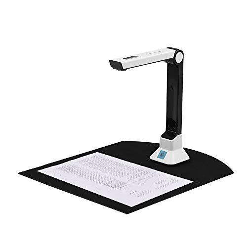 Riiai BK50 Cámara de documentos, 10 megapíxeles de alta definición escáner portátil, tamaño de captura A4 cámara de documentos para el escáner de reconocimiento de archivos USB