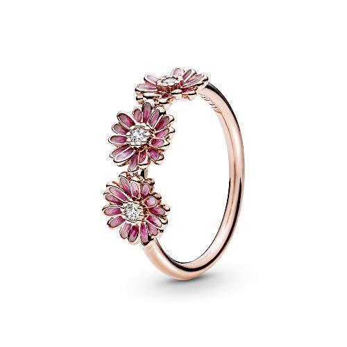 Pandora Rose Damenring Pinkes Gänseblümchen Trio 188792C01-54 Ringgröße 54/17,2