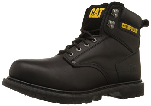 Caterpillar Men's 2nd Shift 6″ Plain Soft Toe Boot,Black,8.5 W US