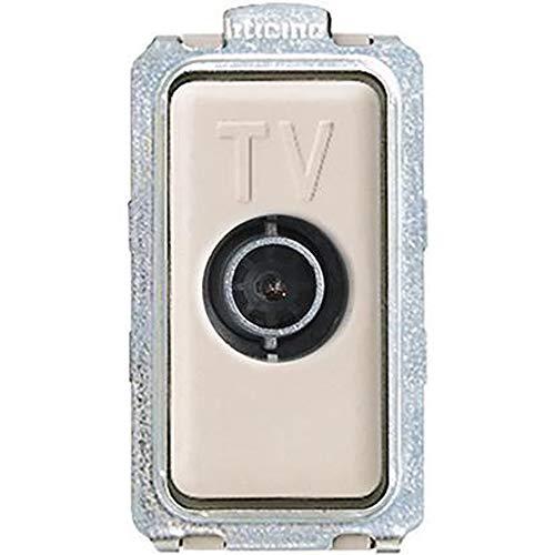 BTicino 5202D Magic Presa TV Diretta, 1 m, Bianco