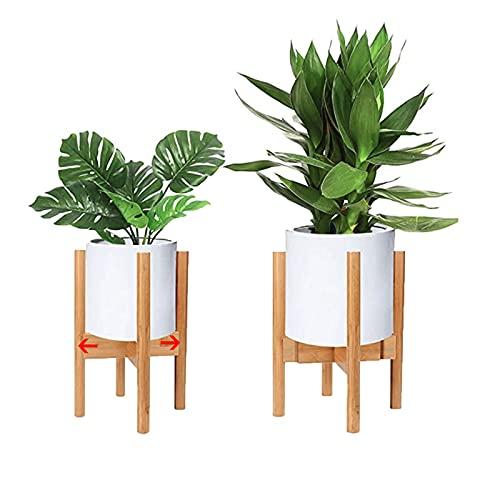 Macllar Soporte para macetero, Soporte de bambú Extensible, Soporte para Plantas Soporte de Flores...