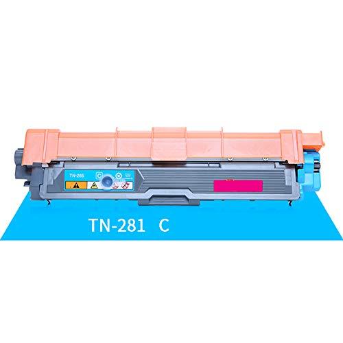 Cartucho de tóner remanufacturado de repuesto para Brother TN-281, para impresora láser Brother HL-3150CDN HL-3170CDW MFC-9140CDN MFC-9340CDW, color azul