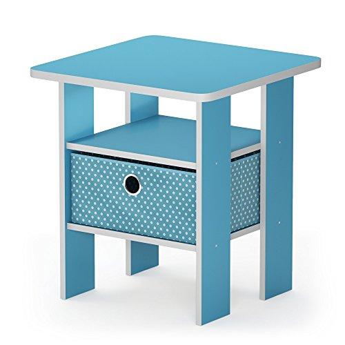 mesa auxiliar de color azul