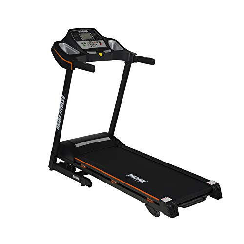 Branx Fitness 'NEW' Compact Foldable 'Energy Pro' Treadmill - 16.5km/h - 0-16 Level Auto Incline - 5hp Peak Motor - Bluetooth - 125kg Max User Weight Limit