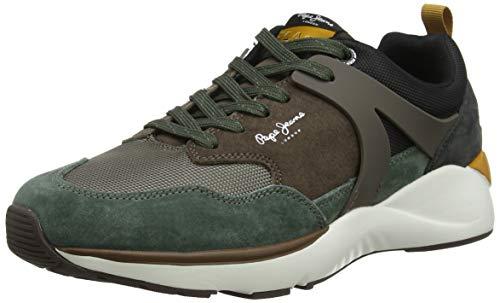 Pepe Jeans London Herren Blake 01 Sneaker, Grün (Khaki Green 765), 43 EU