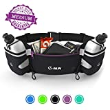 Medium Hydration Running Belt With Bottles - Water Belts For Woman And Men - IPhone Belt For Any Phone Size - Fuel Marathon Race Pack For Runners