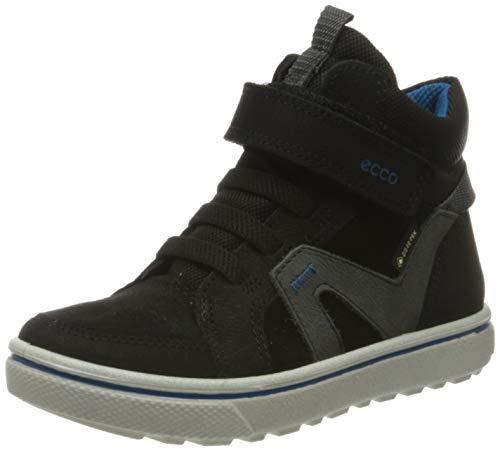 Ecco Jungen GLYDER Hohe Sneaker, Schwarz (Black/Black/Dark Shadow 58813), 33 EU