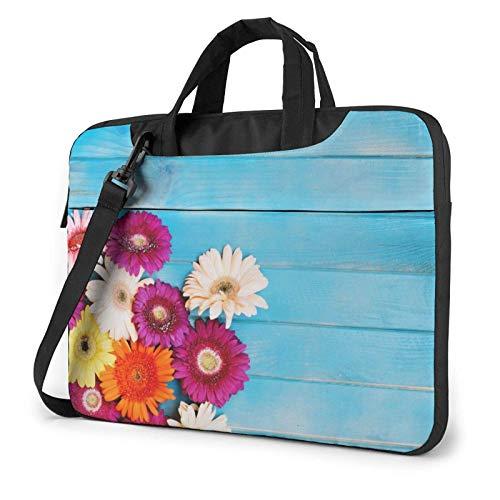 Barberton Daisy Laptop Bag Messenger Bag Maletín Satchel Shoulder Crossbody Sling Bolsa de Trabajo