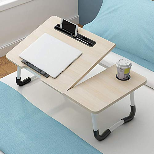 Pkfinrd Full Body stalen frame klein draagbaar voor bed/laptop bureau/staande werkbank/bed bank ontbijtlade, hoek verstelbaar/opvouwbaar, voor het gezin is een goede keuze