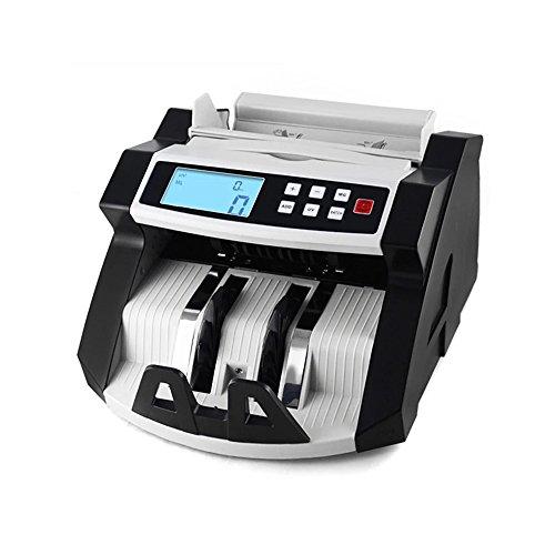 Aibecy Compteur de billets 220V Caisse Enregistreuse Automatique Multifonctionnel - LCD Compteurs Détection de de faux billets UV MG Monnayeur pour Euro Dollar AUD etc