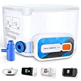 One-Button-Control Sanitizer Bundle, Portable & Light Weight Cleaner Kit for 15mm&22mm Sleep Equipment,Phone,Toothbrush, Sterilize All Simultaneously, 99.99% Killing Rate, EPA Est. No. 97396-CHN-1