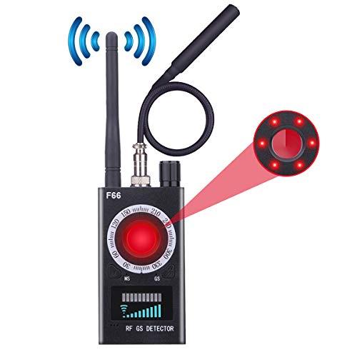 FUVISION RF Signal Detector Upgraded Anti-spy Camera Detector, GSM Listening Device Finder, Laser Lens Detector for Hidden Spy Camera, Wireless Bug...