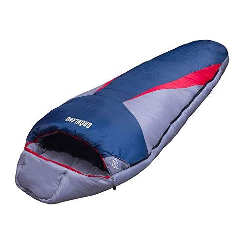 EXPLORER Schlafsack 230x82cm GRÖNLAND Mumienschlafsack -23°C Outdoor Camping Kapuze Wandern Kompressionspacksack