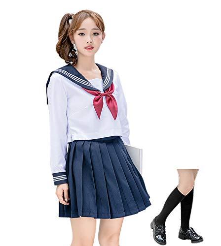 ROLECOS Japanese School Girl Uniform Anime Sailor Suit Lolita School Uniform Long Sleeve 8