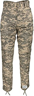 Army Universe Mens ACU Digital Camouflage Military BDU Cargo Pants with Pin (W 35-39 - I 29.5-32.5) L