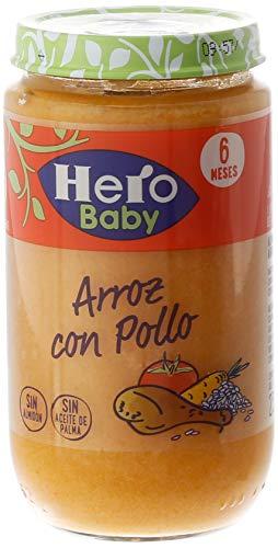 Hero Baby - Arroz Con Pollo Tierno 235 gr - Pack de 6 (Total 1410 gr)