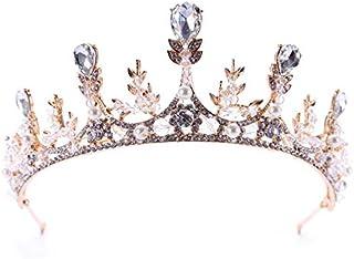 Crystal Crown Tiaras Headwear For Women Bride Bridal Party Rhinestone Pearl Crown Tiara Hair Jewelry Wedding Queen Crowns ...