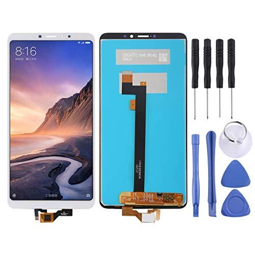 De Galen Accesorios Kits de repuesto LCD para Xiaomi Mi Max 3 pantalla LCD y digitalizador completo montaje (color: blanco)