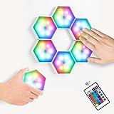 Empalme Inteligente RGB Luces, USB Cargar Tacto Sensible Luces de Pared Modulares Ceativas DIY Magnética Aracción Geometría Lámpara de Noche para Decoración del Hogar, Regalo
