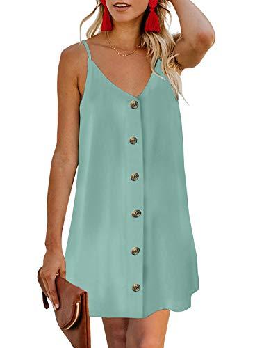 Chase Secret Women's V Neck Spaghetti Shoulder Strap Sleeveless Mini Dress