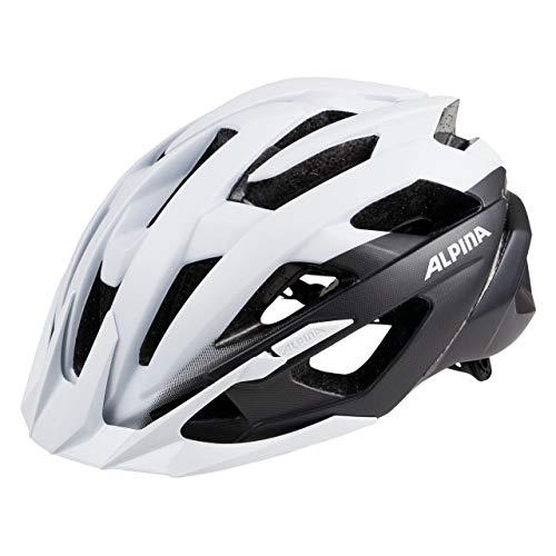 ALPINA Unisex - Erwachsene, VALPAROLA XC Fahrradhelm, white-black, 51-56 cm