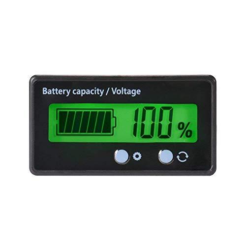 YGL Medidor de Batería, Lector de Batería DC 8-63V 12V 24V 36V 48V Indicador de Batería LCD