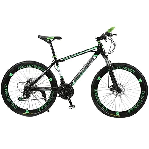 QCLU 26 Pulgadas de Bicicletas de Carbono Ricos en Fuerte Fuerte de Acero,adecuados a Partir de Frenos Delanteros y Traseros de Discos,Suspensión Completa,Niños,Hombres de Bicicletas,con Guardabarros