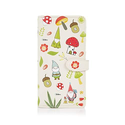 Shagwear ® Portemonnaie Geldbeutel Damen Geldbörse Mädchen | Bifold Mehrfarbig Portmonee Designs: (GNOME)
