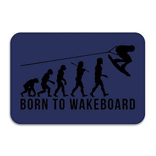 lijied Wakeboarding Evolution Born to Wakeboard Doormat and Dog Mat Non-Slip Doormats,Suitable Cheap Rugs cool Rugs