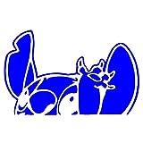 おかしい漫画の車のステッカーは、創造的な針のフロントガラスステッカービニールオートチューニングスタイリングを装飾します A-JINGHUA (Color Name : Blue, Style : 16x10cm)