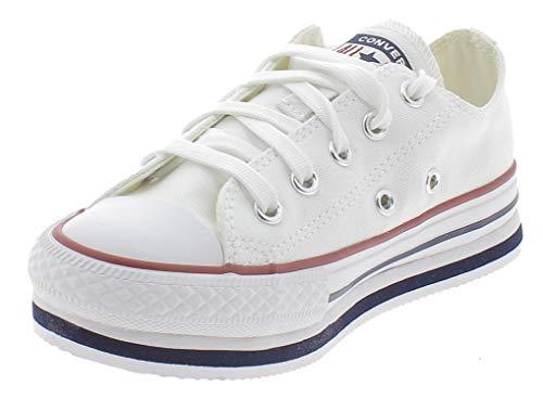 Chuck Taylor All Star Platform EVA OX Zapatos Deportivos para Nina Blanco 668028C