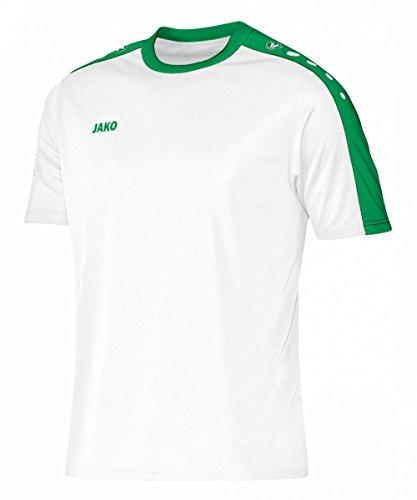 JAKO Kinder Trikot Striker KA, weiß/sportgrün, 116, 4206
