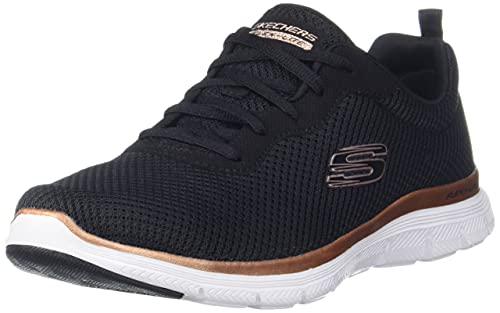 Skechers Flex Appeal 4.0 Brilliant View, Zapatillas Mujer, Black, 38 EU