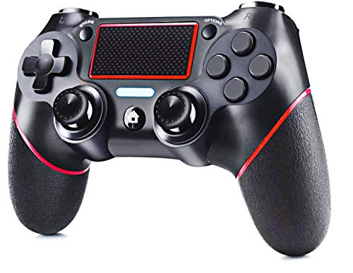 ELYCO Wireless Controller für PS-4,Bluetooth Wireless Gamepad Joystick Gaming Controller DualShock 6 Gyro/Touch Panel/LED Indicator Game Controller