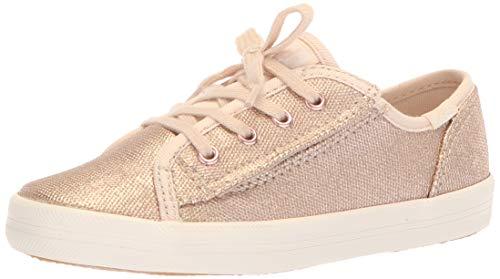 Keds Girls' Kickstart Core Jr Sneaker, Brushed Metallic, 4 Medium US...