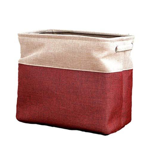 Cesto Plegable de EVA para Ropa Sucia, cestas Grandes para artículos Diversos, Bolsa de Almacenamiento de cosméticos (Rojo Vino)