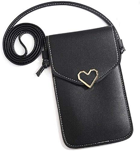 Mini bolso de hombro multifunción pequeño de teléfono transparente para bolso de viaje de mujer, tarjetero para monedero portátil