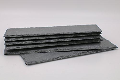 Dio - Juego de 6 Platos de Pizarra 30 x 10 cm