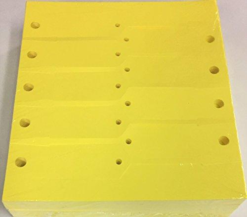 Key Tag Vinyl Arrow Self Locking Yellow Blank (5000 Qty) (A41)