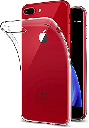 Spigen Coque iPhone 8 Plus, Coque iPhone 7 Plus [Liquid Crystal] Ultra Mince et Souple [Crystal Clear] TPU Silicone, Adhésion Parfaite, Compatible avec iPhone 8 Plus, 7 Plus