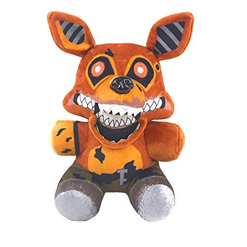 7 Pulgadas Five Nights at Freddy's Foxy Plush,Muñeco de Peluche Cinco Noches en Juguetes de Peluche de Freddy, Freddy Bear Funtime Foxy Chica Bonnie, Muñecas para fanáticos de FNAF Regalos para niños